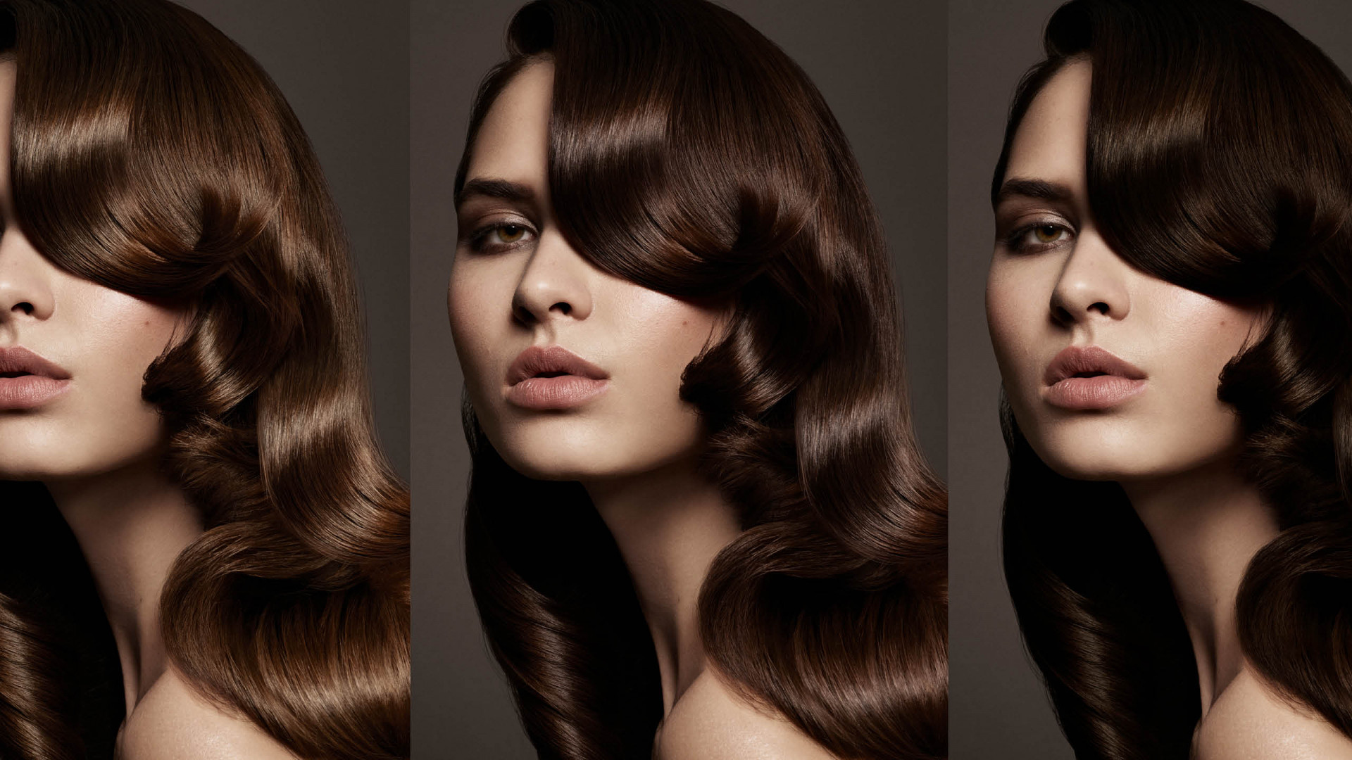 brunette tryptique